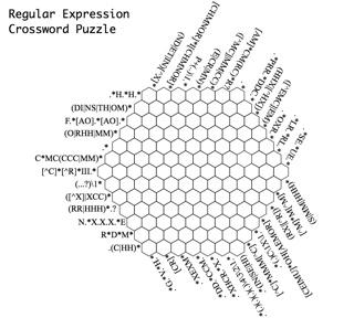 正規表現クロスワードパズル