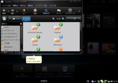 Dropbox on HP mini 1000 MI Edition
