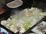 野菜を盛る