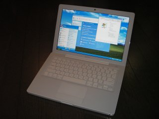 MacBook running Windows XP