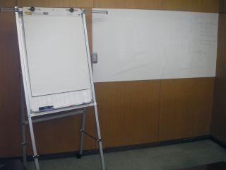 フリップチャートとホワイトボード
