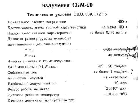 SBM-20 Datasheet