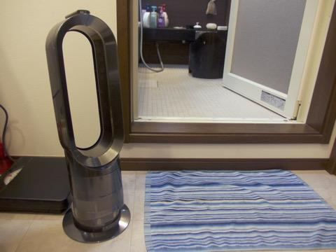 Dysonホットアンドクールを脱衣所に常設すると、一年中風呂上がりがゴキゲンになりますぞ